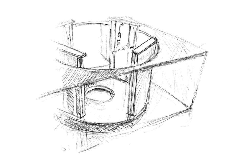 TechnotransMotion 4-Säulen-Hebesystem (Skizze)